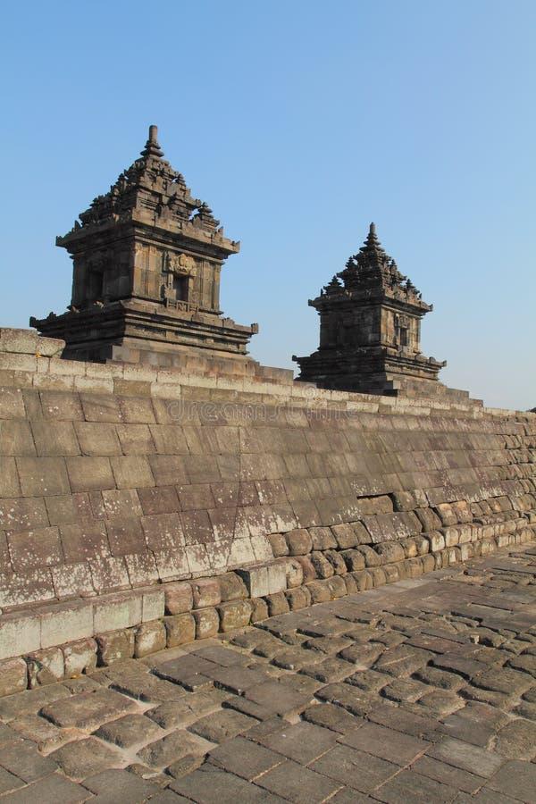 Candi hindú indonesio/templo fotografía de archivo