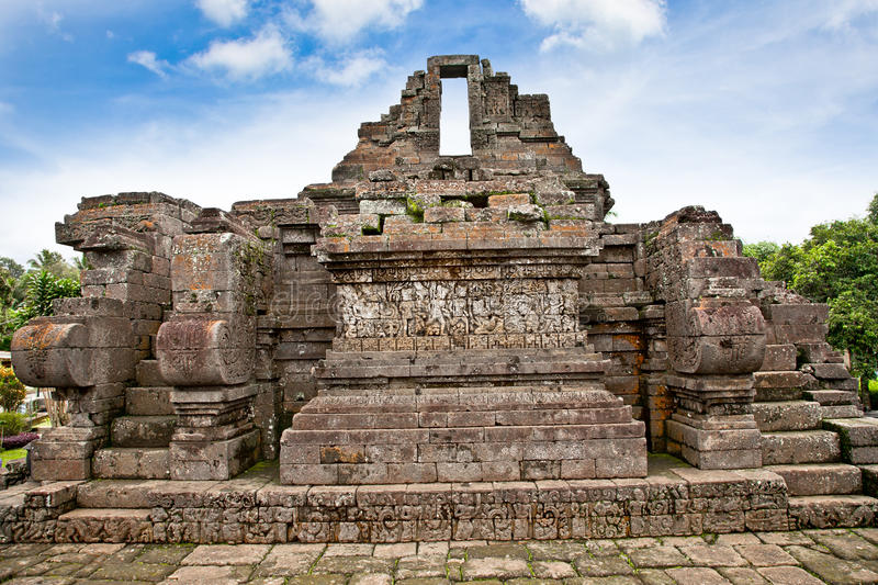 Candi Jago Temple near by Malang, east Java, Indonesia. stock images