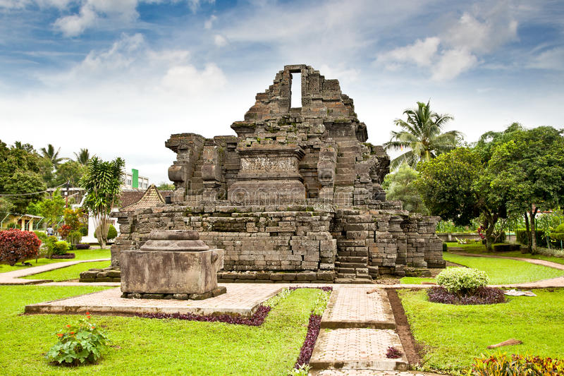 Candi Jago Temple near by Malang on Java, Indonesia. Candi Jago Temple near by Malang on east Java, Indonesia royalty free stock photo
