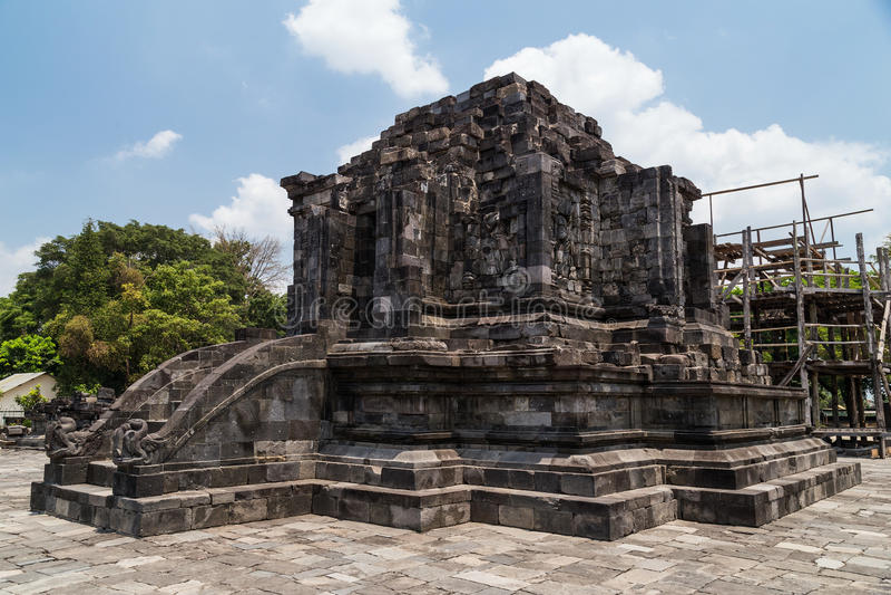 Candi Lumbung en el complejo del templo de Prambanan, Java, Indonesia imagen de archivo