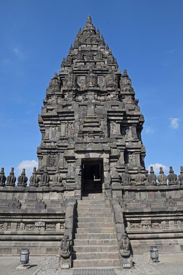 Candi o templo Nandi en compuestos del templo de Prambanan fotografía de archivo libre de regalías