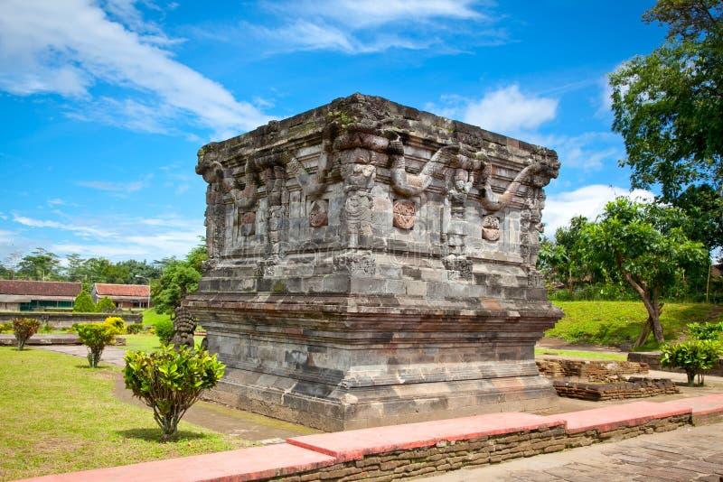 Candi Penataran寺庙在Blitar,印度尼西亚。 库存图片
