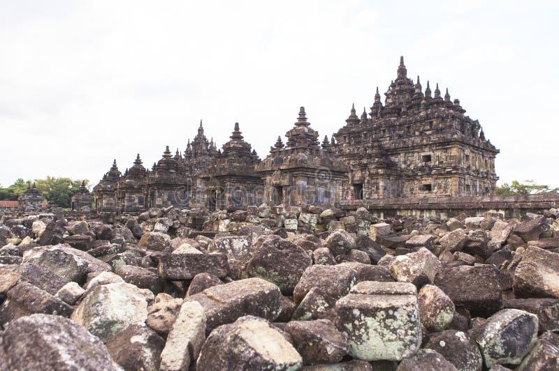 Candi Plaosan en Yogyakarta, Indonesia imagenes de archivo