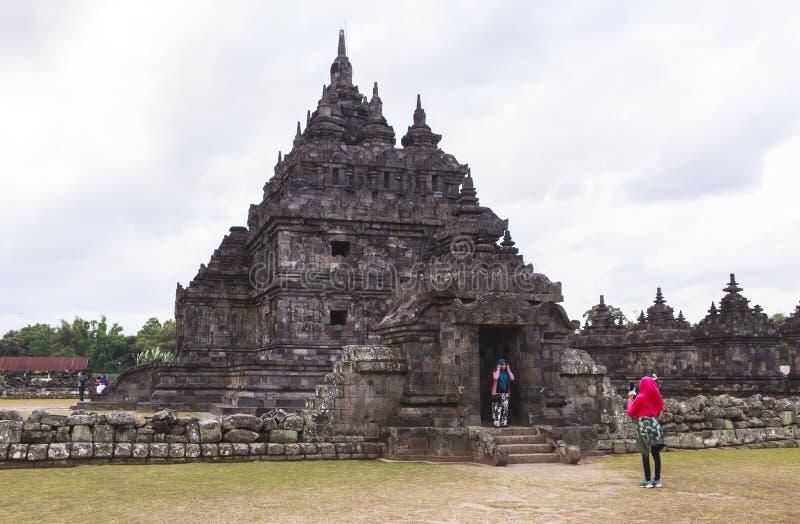 Candi Plaosan en Yogyakarta, Indonesia imagen de archivo libre de regalías