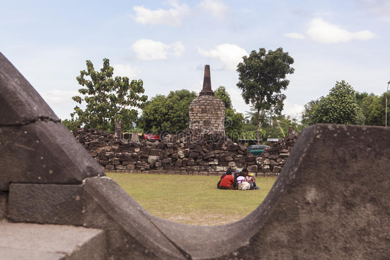 Candi Plaosan en Yogyakarta, Indonesia fotografía de archivo