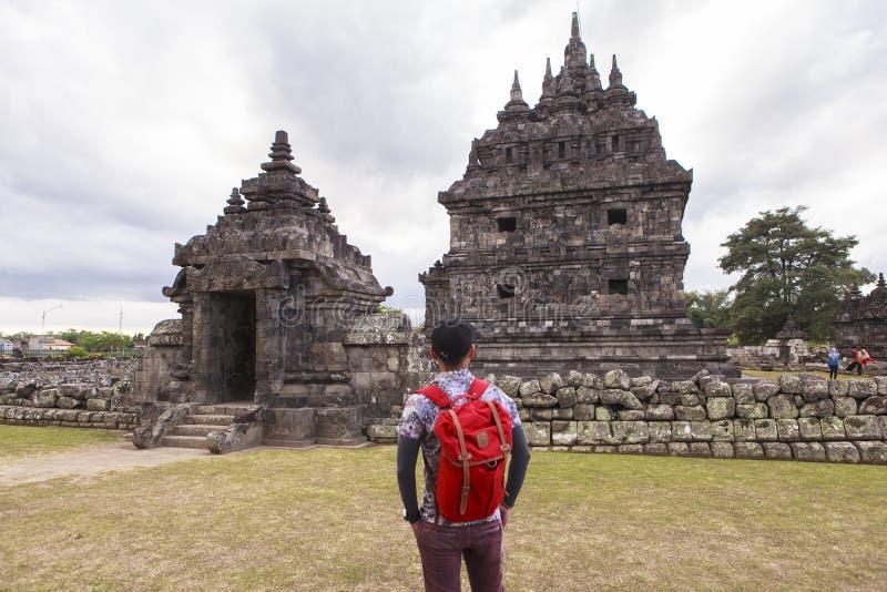 Candi Plaosan i Yogyakarta, Indonesien royaltyfria bilder