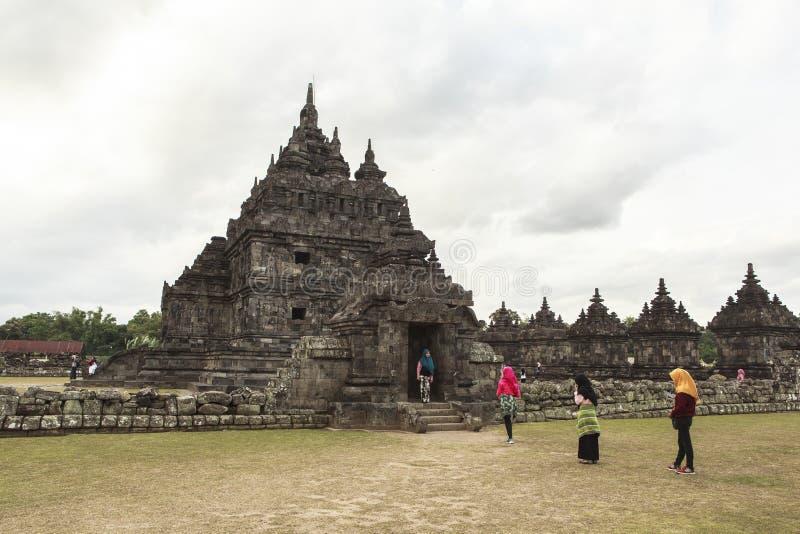 Candi Plaosan i Yogyakarta, Indonesien arkivfoto