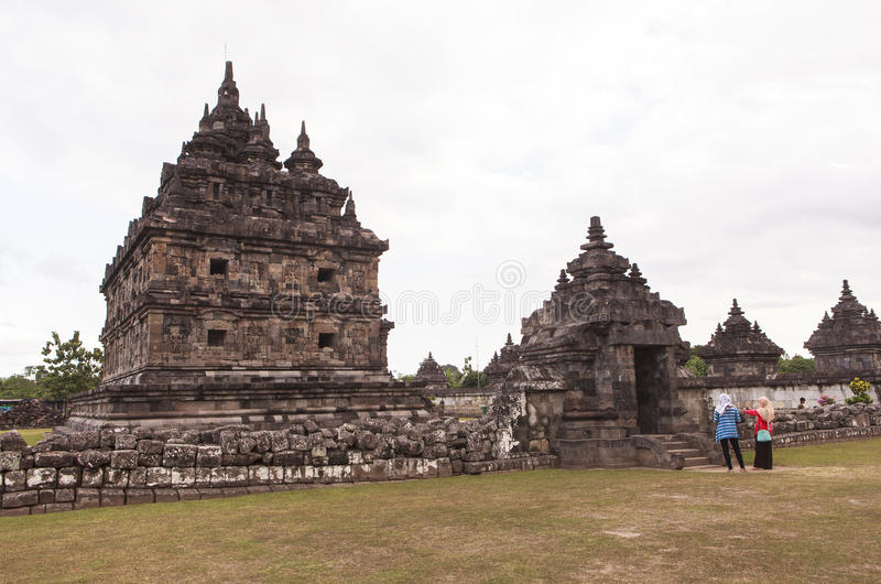 Candi Plaosan i Yogyakarta, Indonesien arkivbild