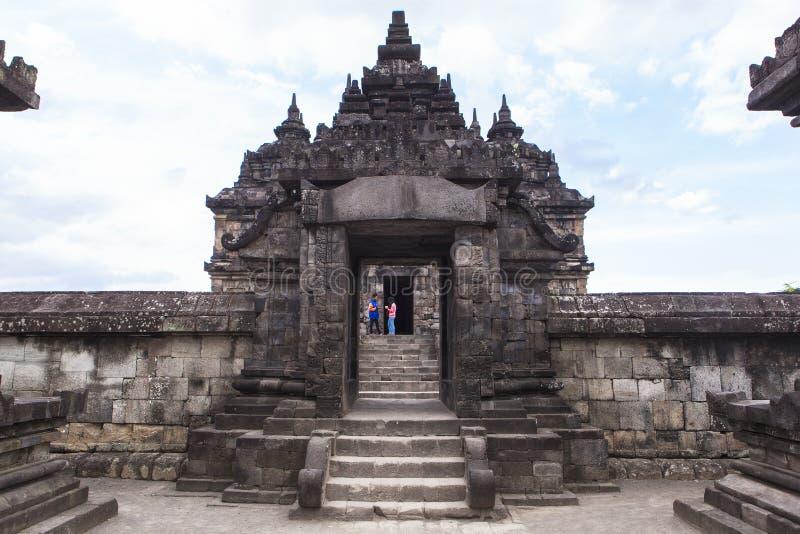 Candi Plaosan i Yogyakarta, Indonesien royaltyfri bild