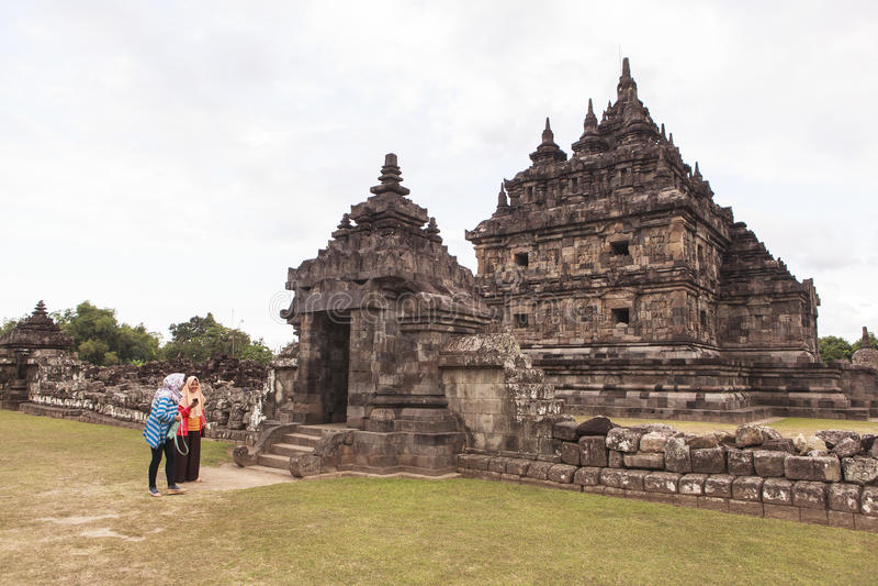 Candi Plaosan i Yogyakarta, Indonesien royaltyfria foton