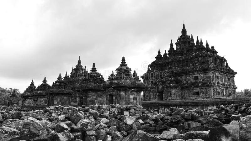 Candi Plaosan, un templo budista histórico en Java imagen de archivo