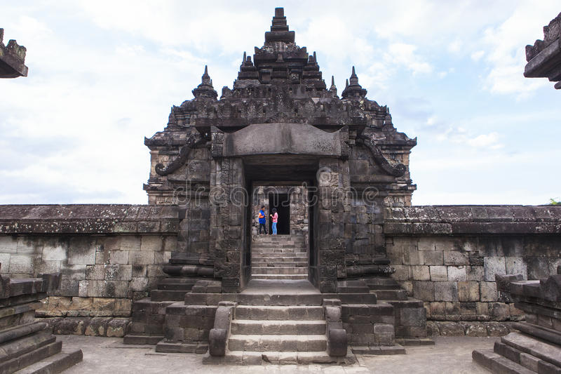 Candi Plaosan in Yogyakarta, Indonesia. This photo is taken in Yogyakarta, Indonesia. Candi Plaosan, also known as the `Plaosan Complex`, is one of the Buddhist royalty free stock image