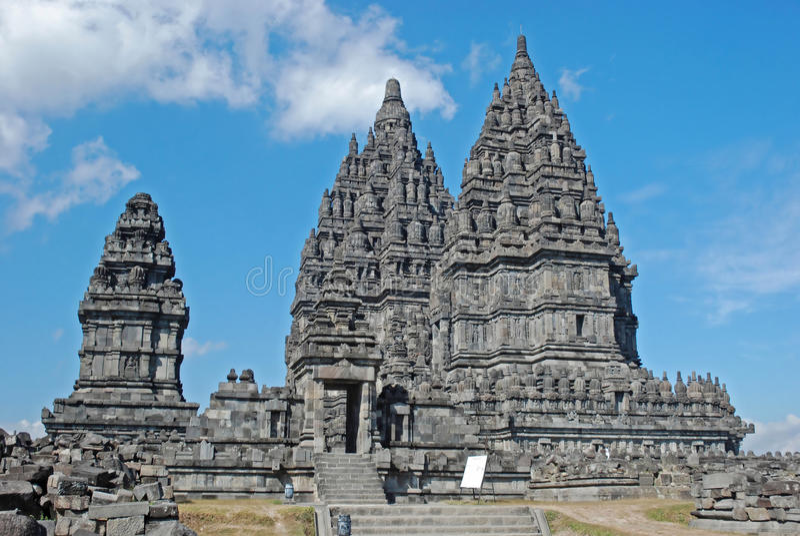 Candi Prambanan,印度寺庙的, Java,印度尼西亚 免版税库存照片