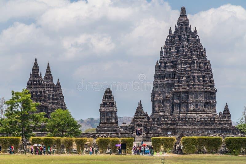 Candi Rara Jonggrang, pieza del templo hindú de Prambanan, Indonesia fotografía de archivo