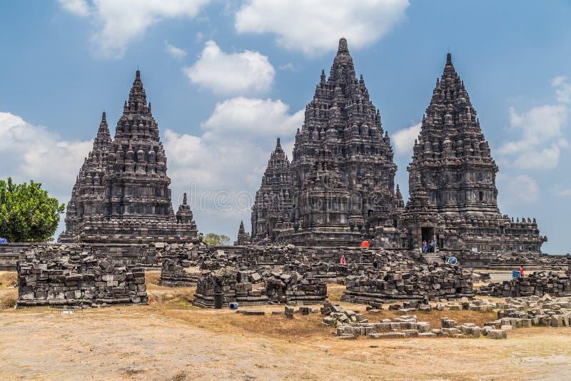 Candi Rara Jonggrang, Teil hindischen Tempels Prambanan, Indonesien stockbilder