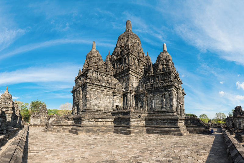 Candi Sewu buddhistischer Komplex in Java, Indonesien lizenzfreie stockbilder