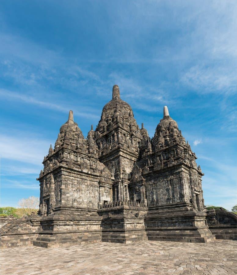 Candi Sewu buddhistischer Komplex in Java, Indonesien stockfotos