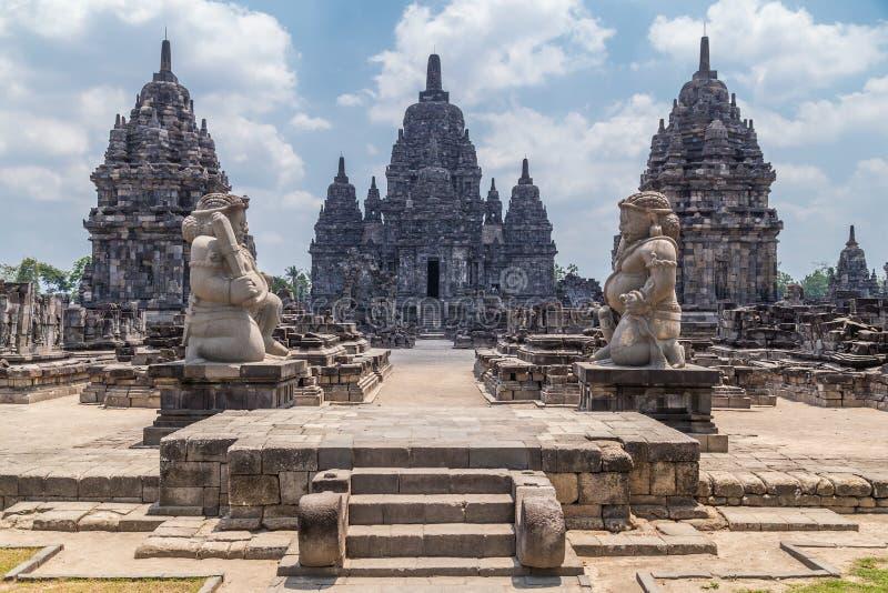 Candi Sewu, pieza del templo hindú de Prambanan, Indonesia fotografía de archivo