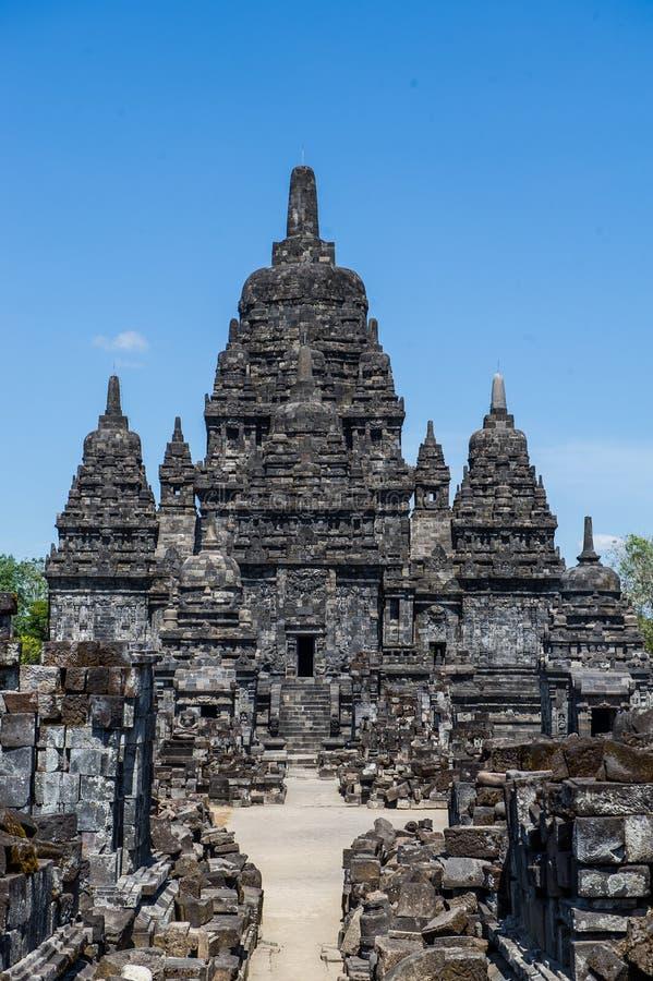 Candi Sewu Temple, Yogyakarta, Indonesien 4 stockfotografie