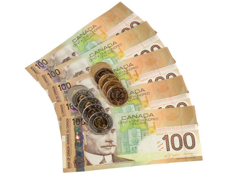 candian αερισμένα νομίσματα χρήμα στοκ εικόνα με δικαίωμα ελεύθερης χρήσης