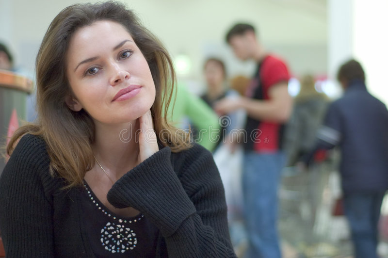 Download Candid Casual Portrait In A City Mall Stock Photo - Image: 1721212