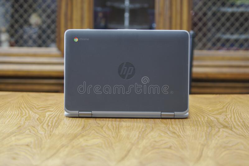 Candid Chromebook with Logo in Focus royalty free stock images