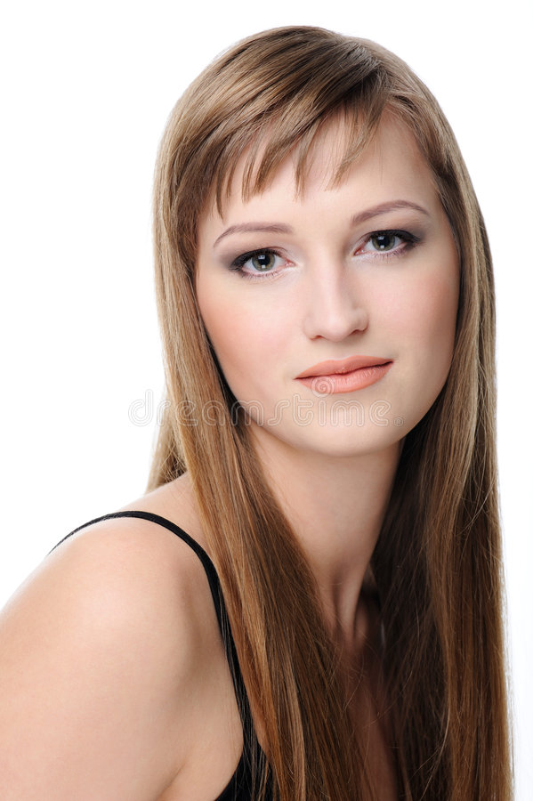 Candid female face stock images