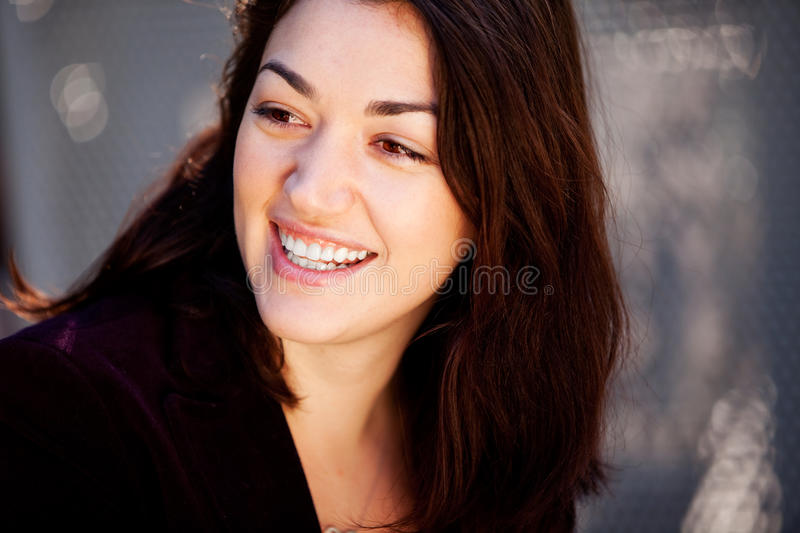 Download Candid Happy Woman stock image. Image of attractive, group - 11900885