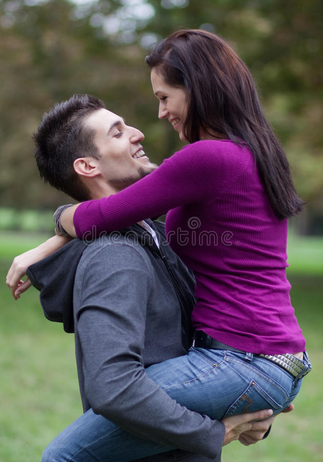 Candid Photo Of An Attractive Young Couple In Love Stock Photo