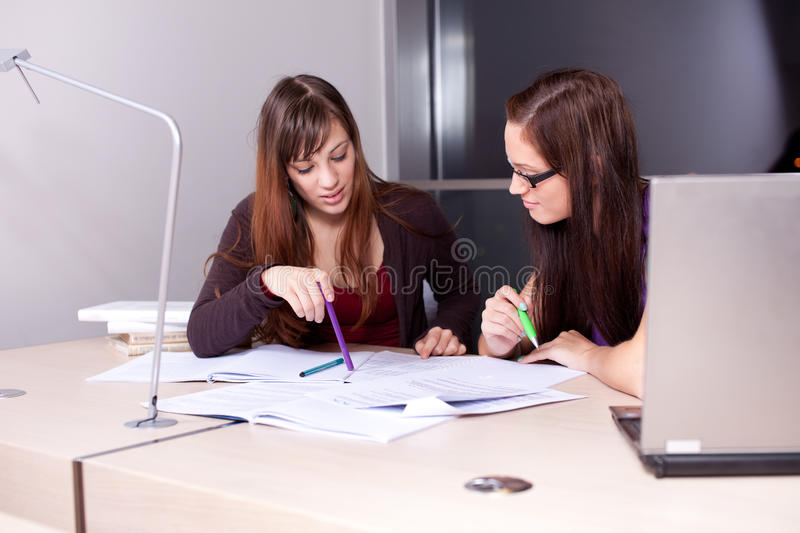 Download Candid Photo Of A Couple Of Students Studying Stock Photo - Image: 22839710