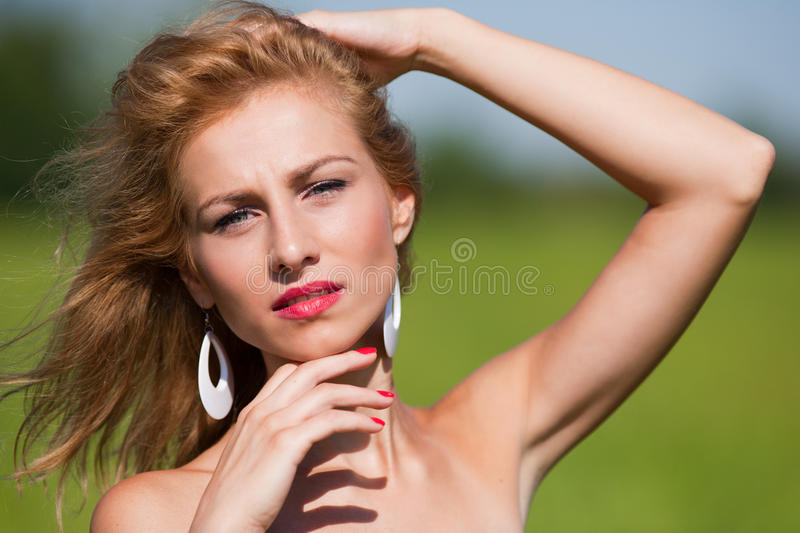 Download Candid Portrait Of A Beautiful Young Lady Stock Photos - Image: 15658303