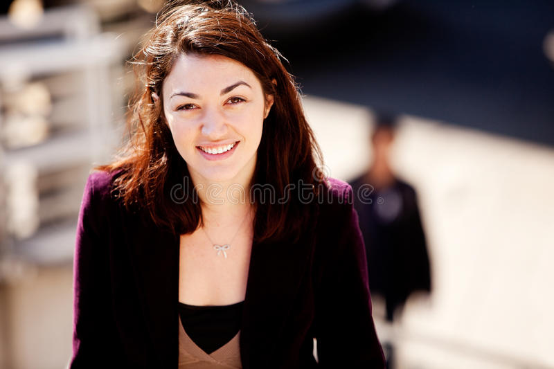Candid Woman Portrait royalty free stock photo