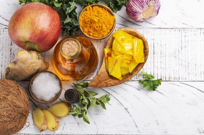 Candida diet food royalty free stock images