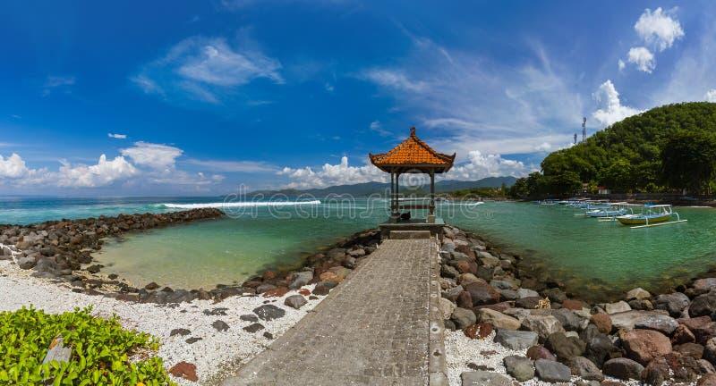 Candidasa Beach - Bali Island Indonesia. Nature travel background stock images