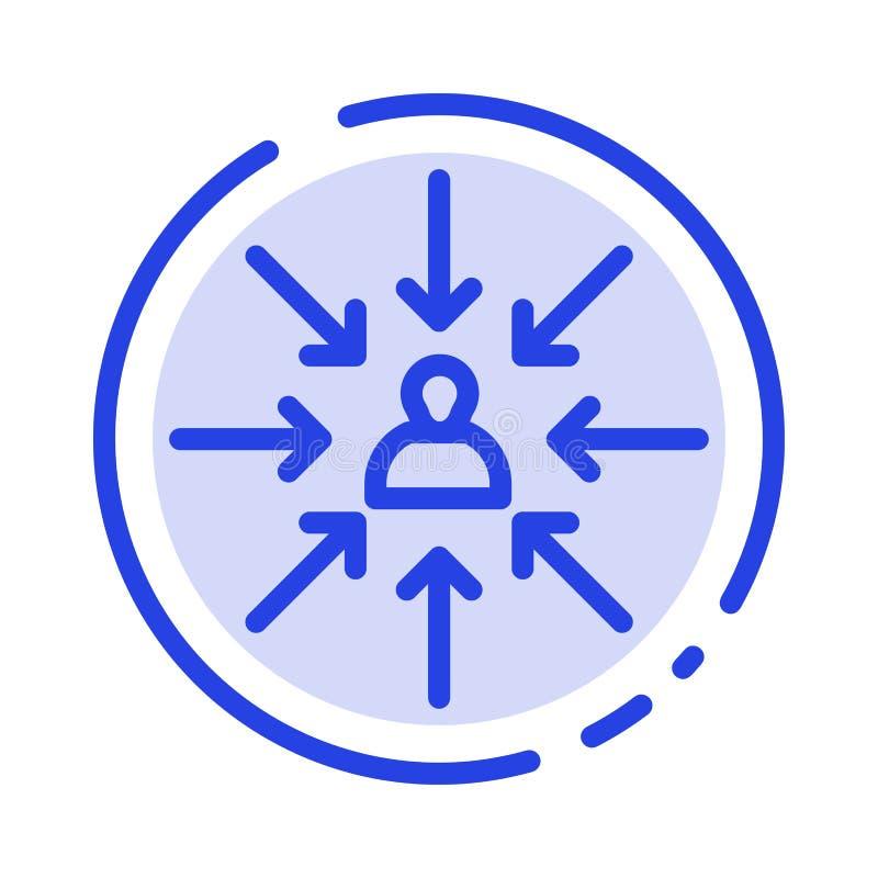 Candidat, Choix, Choix, Focus, Sélection Icône Ligne Bleue Dotée illustration de vecteur