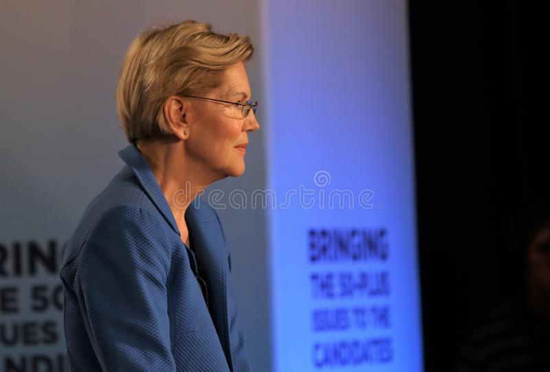 Candidat présidentiel Elizabeth Warren photos stock