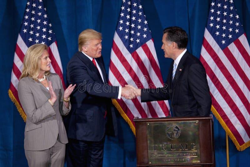 Candidat républicain à la présidentielle Mitt Romney image libre de droits