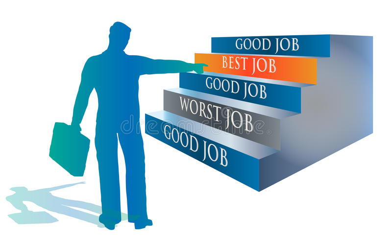 Candidate Selecting The Best Job Illustration Royalty Free Stock Photography