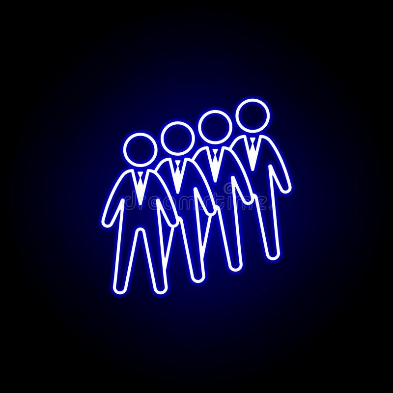 Candidates, group, workers icon. Elements of Human resources illustration in neon style icon. Signs and symbols can be used for vector illustration
