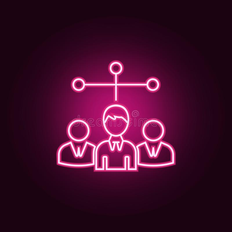 candidates for the vacancy icon. Elements of HR & Heat hunting in neon style icons. Simple icon for websites, web design, mobile stock illustration