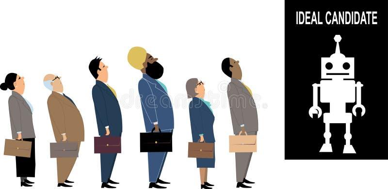 Candidato de trabalho ideal ilustração stock