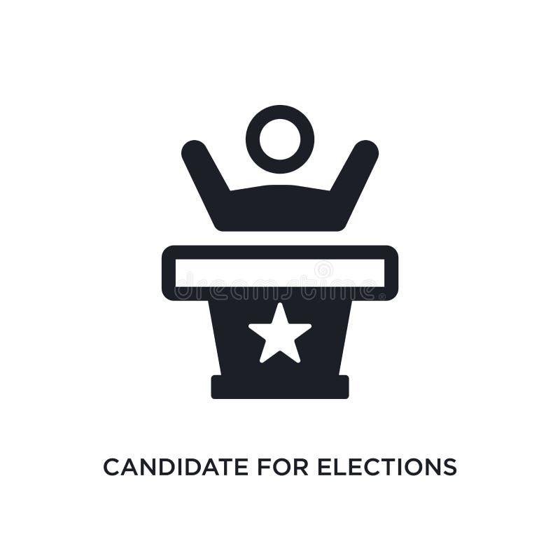 candidato para o ícone isolado eleições ilustração simples do elemento dos ícones políticos do conceito candidato para as eleiçõe ilustração do vetor