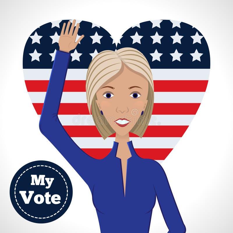 Candidato político femenino libre illustration