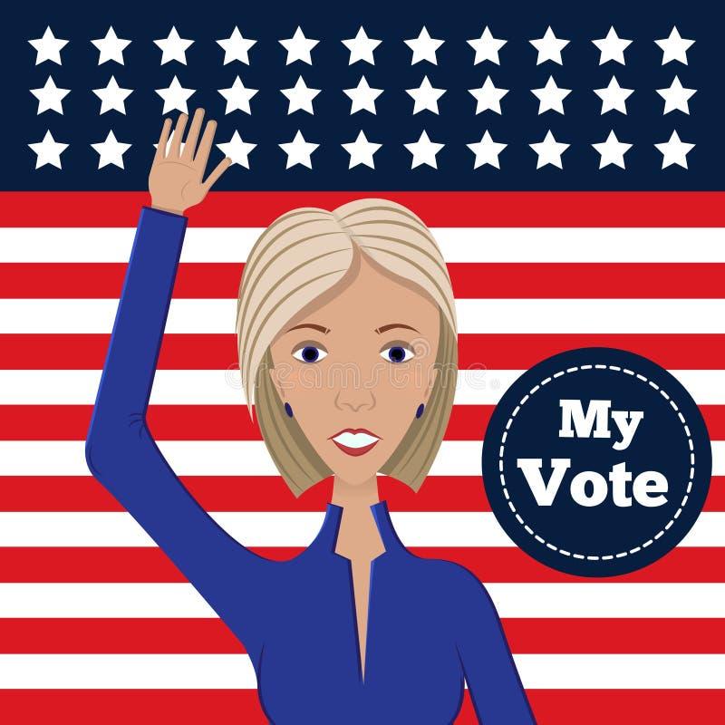 Candidato político femenino stock de ilustración