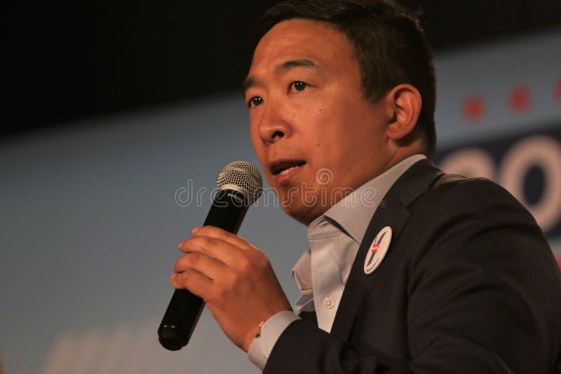 Candidato presidencial Andrew Yang foto de stock royalty free