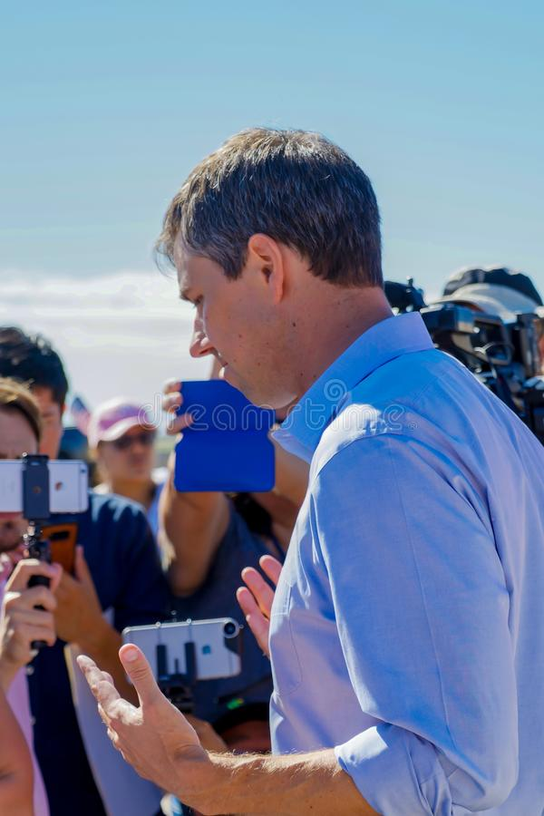 Candidato presidencial Beto O 'Rourke imagem de stock