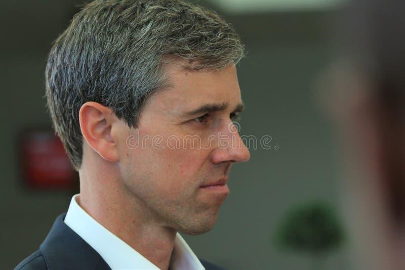 Candidato presidencial Beto O ?Rourke fotografia de stock royalty free