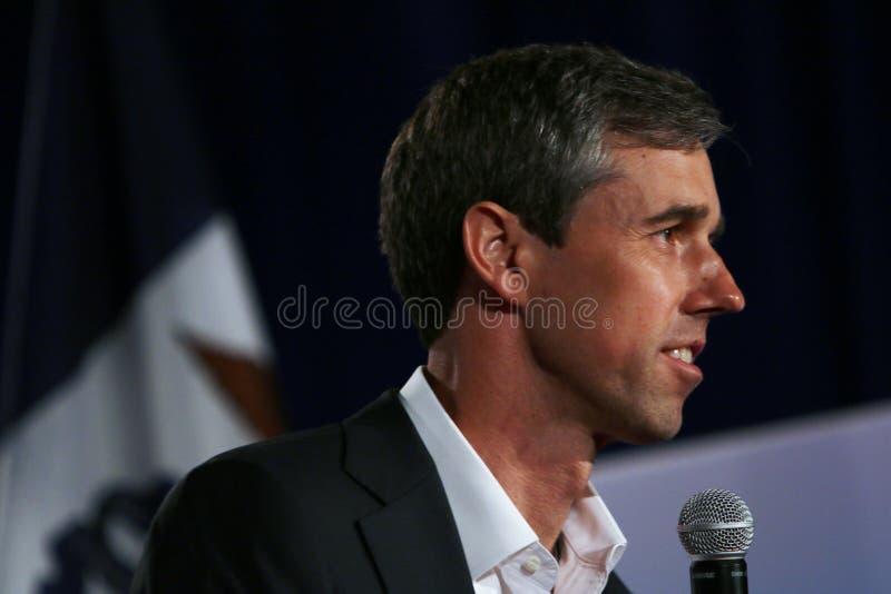 Candidato presidencial Beto O ?Rourke imagens de stock royalty free