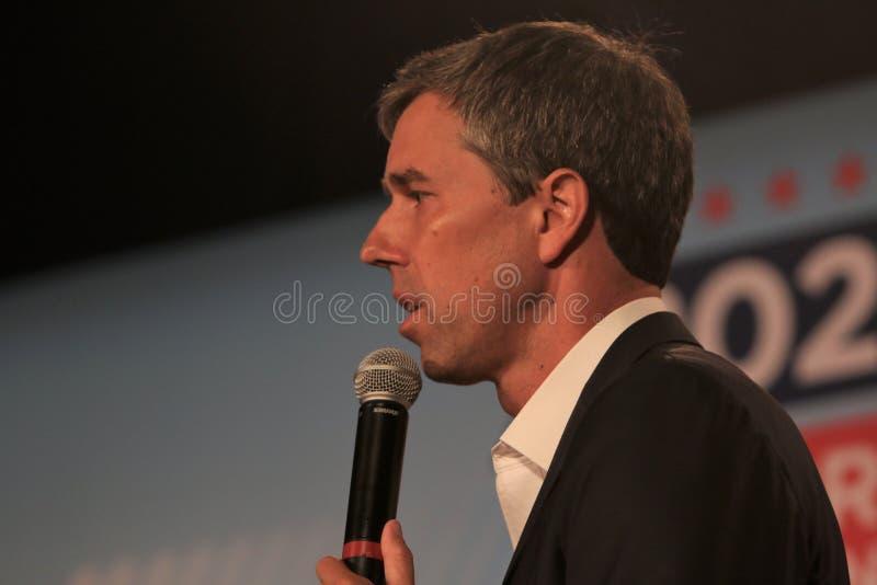 Candidato presidencial Beto O ?Rourke imagem de stock