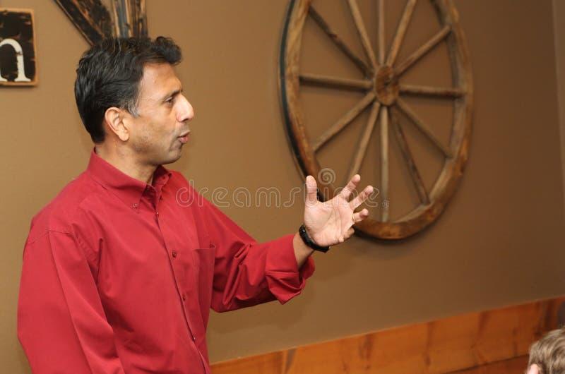 Candidato presidencial Bobby Jindal fotografia de stock